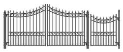 Set of ALEKO® MOSCOW Style Steel Swing Single Driveway 12 ft with Pedestrian Gate 4 ft