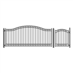Set of ALEKO® DUBLIN Style Steel Swing Single Driveway 4.3 m with Pedestrian Gate 1.2 m