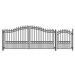 Set of ALEKO® LONDON Style Steel Swing Dual Driveway 14 ft with Pedestrian Gate 4 ft
