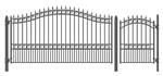 Set of ALEKO® LONDON Style Steel Swing Single Driveway 4.3 m with Pedestrian Gate 1.2 m