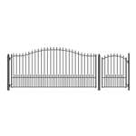 Set of ALEKO® MUNICH Style Steel Swing Single Driveway 4.3 m with Pedestrian Gate 1.2 m