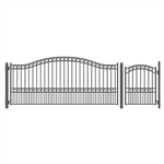 Set of ALEKO® PARIS Style Steel Swing Single Driveway 4.3 m with Pedestrian Gate 1.2 m