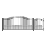 Set of ALEKO® PRAGUE Style Steel Swing Single Driveway 4.3m with Pedestrian Gate 1.2 m