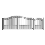 Set of ALEKO® ST.PETERSBURG Style Steel Swing Dual Driveway 14 ft with Pedestrian Gate 4 ft