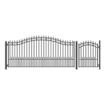 Set of ALEKO® ST.PETERSBURG Style Steel Swing Single Driveway 4.3m with Pedestrian Gate 1.2 m