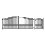 Set of ALEKO® LONDON Style Steel Swing Dual Driveway 4.9 m with Pedestrian Gate 1.2 m