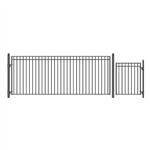 Set of ALEKO® MADRID Style Steel Swing Single Driveway 4.9 m with Pedestrian Gate 1.2 m