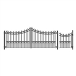 Set of ALEKO® MOSCOW Style Steel Swing Single Driveway 4.9 m with Pedestrian Gate 1.2 m