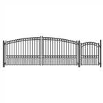Set of ALEKO® PARIS Style Steel Swing Dual Driveway 4.9 m with Pedestrian Gate 1.2 m