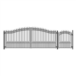 Set of ALEKO® PRAGUE Style Steel Swing Dual Driveway 4.9 m with Pedestrian Gate 1.2 m