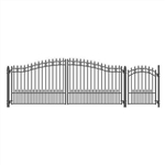 Set of ALEKO® ST.PETERSBURG Style Steel Swing Dual Driveway 4.9 m with Pedestrian Gate 1.2 m