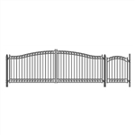 Set of ALEKO® DUBLIN Style Steel Swing Dual Driveway 5.5 m with Pedestrian Gate 1.2 m