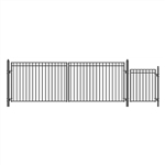 Set of ALEKO® MADRID Style Steel Swing Dual Driveway 5.5 m with Pedestrian Gate 1.2 m