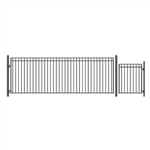 Set of ALEKO® MADRID Style Steel Swing Single Driveway 5.5 m with Pedestrian Gate 1.2 m