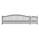 Set of ALEKO® PARIS Style Steel Swing Single Driveway 5.5 m with Pedestrian Gate 1.2 m