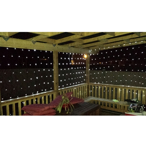 Aleko sl5805 n50w solar powered white 50 led net lights for our aloadofball Image collections