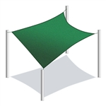 ALEKO® Rectangle Shade Sail GREEN Color