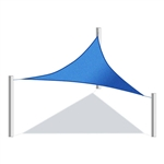 ALEKO® Triangular Shade Sail BLUE Color