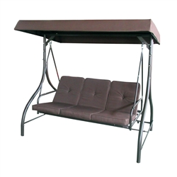 ALEKO Canopy Patio Swing Bench - Brown
