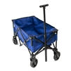 Multipurpose Folding Utility Wagon - Adjustable Retractable Handle - Blue with Black Frame - 150 Pounds - ALEKO
