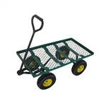 Heavy Duty Flatbed Mesh Cart with Padded Pull Handle - ALEKO