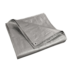 ALEKO® TR16X16SL 16X16 Feet Heavy Duty Tarp Multi-Purpose All Weather Polyethylene Tarpaulin, Silver