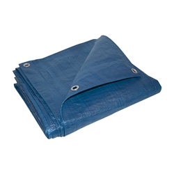 ALEKO® TR6X8BL 6X8 Feet Heavy Duty Tarp Multi-Purpose All Weather Polyethylene Tarpaulin, Blue