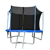 Trampoline with Safety Net and Ladder - 10 Feet - Black and Blue - ALEKO