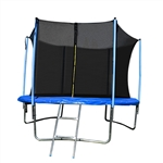 ALEKO  TRP12 12 Foot Trampoline With Safety Net and Ladder, Black and Blue