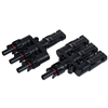 ALEKO® TS-C07 MC4 Solar Style Branch 1 Male to 3 Female and 1 Female to 3 Male Panel Cable Connectors