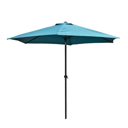 ALEKO 9 Ft Outdoor Umbrella, Turquoise Blue Color