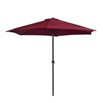ALEKO 9 Ft Outdoor Umbrella, Burgundy Color