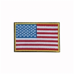 ALEKO® USFL2X3EP High Quality Embroidered US Flag Velcro Backed Patch 3 X 2 Inches (7.6 X 5.1 cm)