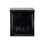 Heavy Duty Wall Mounted Mail Box - Black - ALEKO