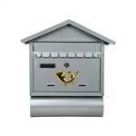 ALEKO USMB-02 Wall Mounted Mail Box with Retrieval Door, 2 Keys and Newspaper Compartment