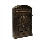 ALEKO USMB-05BZ Elegant Wall Mounted Mail Box with Retrieval Door, 2 Keys and Bolts, BRONZE