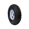 ALEKO WAP10 Pneumatic Replacement Wheel for Wheelbarrow 10 Inch Air FIlled Turf Tire for Hand Trucks and Lawn Carts,Black Tire White Rim