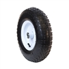 ALEKO WAP13 Smooth Pneumatic Replacement Wheel for Wheelbarrow 13 Inch (33 cm) Air FIlled Turf Tire for Hand Trucks and Lawn Carts, Black Tire White Rim