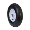 ALEKO WBAP13 Ribbed Pneumatic Replacement Wheel for Wheelbarrow 13 Inch (33 cm) Air FIlled Turf Tire, Black Tire White Rim