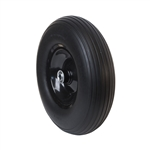 ALEKO WBNF13 Flat Free Replacement Wheel for Wheelbarrow 13 Inch (33 cm) No Flat Tire, Black