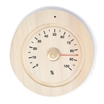 Handcrafted Sauna Hygrometer in Finnish Pine Wood - ALEKO