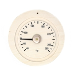 Round Pine Wood Sauna Thermometer Gage in Fahrenheit - ALEKO