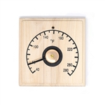 Finland Pine Square Thermometer in Fahrenheit - ALEKO