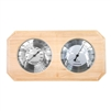 Wall-Mounted Pine Wood Thermometer and Hygrometer - ALEKO