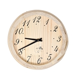 Sauna Handcrafted Analog Clock in Finnish Pine Wood - ALEKO