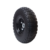 ALEKO WNF10 Flat Free Replacement Wheel for Wheelbarrow 10 Inch (25.4 cm) No Flat Tire, Black