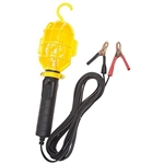 Incandescent Work Light with Non Metallic Guard and Battery Clips - 20 Foot Cord - Yellow