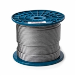 ALEKO® WR3/16G7X19F500 3/16 Inch 7X19 Galvanized Aircraft Steel Wire Cable 500 Feet