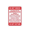 Aluminum Do Not Disturb Sign for Private Property - 7 x 10 Inches - ALEKO