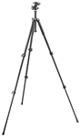 Manfrotto Bogen 293 Aluminum 3 Section (Black) Tripod with (Quick Release) Ball Head